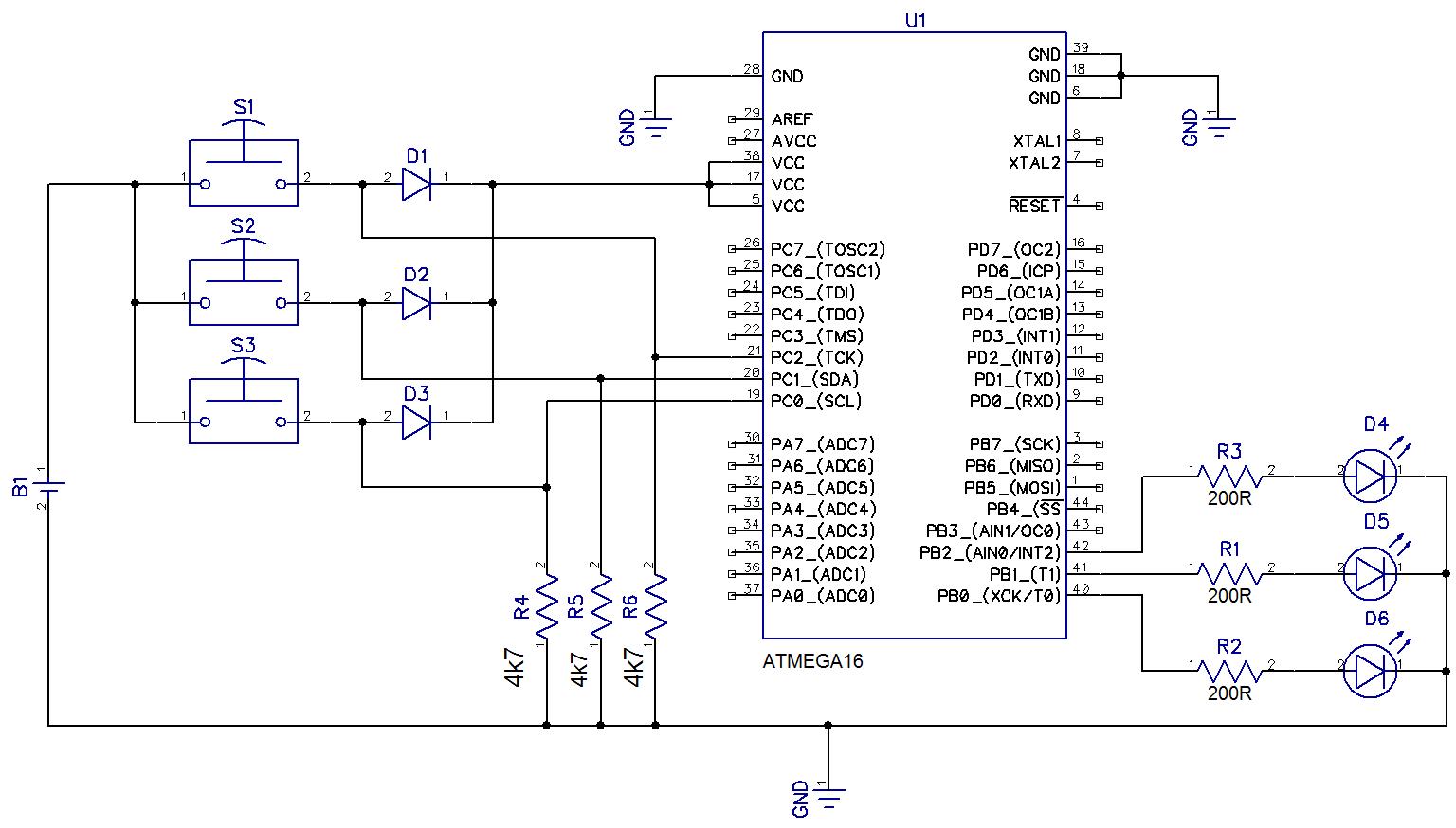 схема домофона на микроконтроллере