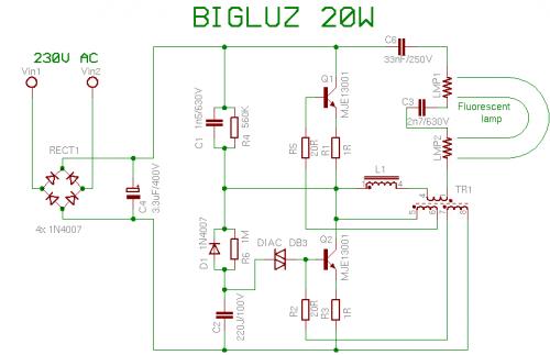 Фотография открытой лампы Bigluz 20W.r.  Рассмотрение Большинство этих компактных люминесцентных ламп использует ту же.